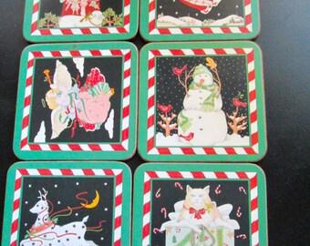 Vintage Pimpernel Coasters (6) Christmas