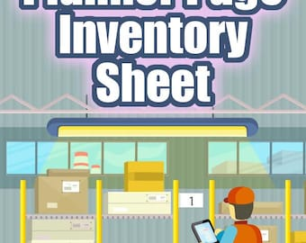 Inventory Sheet - Etsy Ebay Planner Page , Product Tracker, Etsy Seller Ebay Seller, Form Worksheet, Seller Tools, Digital PDF Printable