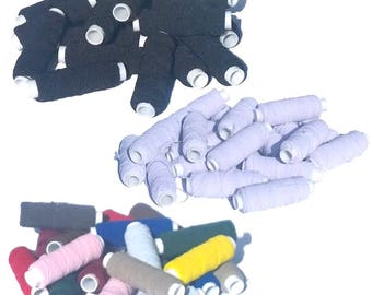 Unwrapped Sewing Shirring Elastic Spools 20pcs - Thin Knitting Elastic - Smocking Elastic