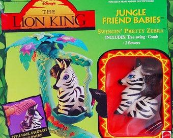 Lion King Jungle Friends Baby-Swinging Pretty Zebra