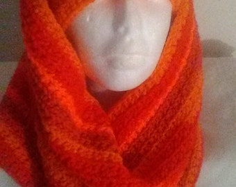 Oversized cowl and matching hat