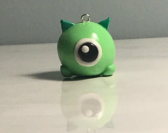 Mike Wasowski polymer clay charm  (from the movie Monsters Inc.)
