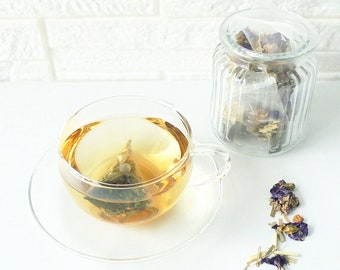 Blue mallow Lemongrass (teabags)-Herbal tea blend