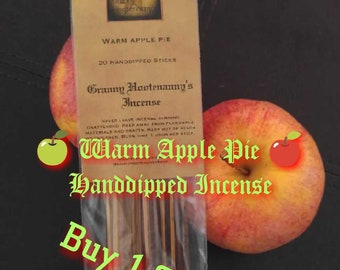 Buy 1 Get 1 Free! WARM APPLE PIE Incense Sticks 20 Pack. Automatically Receive 1 Free Pack!