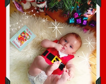 My First Christmas - Baby Milestone Card