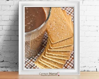 Kitchen and dining-room laminates. paintings to decorate kitchen. Cooking food photography. Art for kitchen and dining room. Gift for woman.