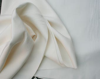 Japanese Kimono Silk from the Bolt - Classic Ivory Mist