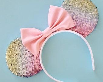 Pastel Rainbow Mouse Ears