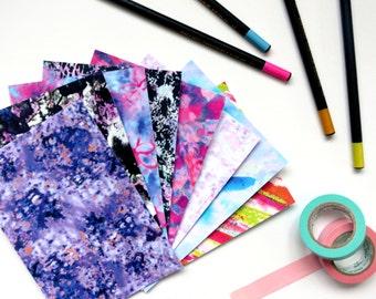 Postcard Pack, Postcard Set, Colourful Postcards, Printed Notelets, Plain Postcards, Postcard Set, Small Postcard Print