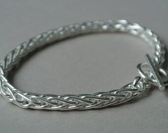 Modern Sterling Silver Bracelet- Silver Chain Bracelet