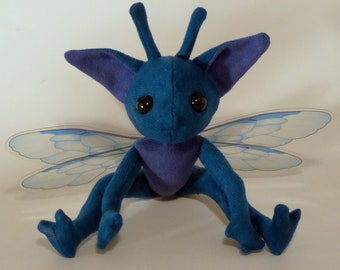 Plush Jointed Cornish Pixie inspired by the Harry Potter Series