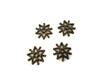 28 cups 16 mm - 16 mm - Cup Tibetan - A216 antique bronze star caps