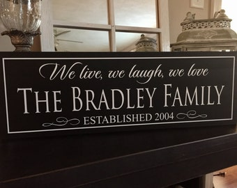 Family Name Sign Wood, Family Established Sign, Home Established Sign, Wood Signs, Family Established Wood Sign, Personalized Family Signs