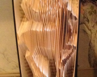 Folded Book Art Deer