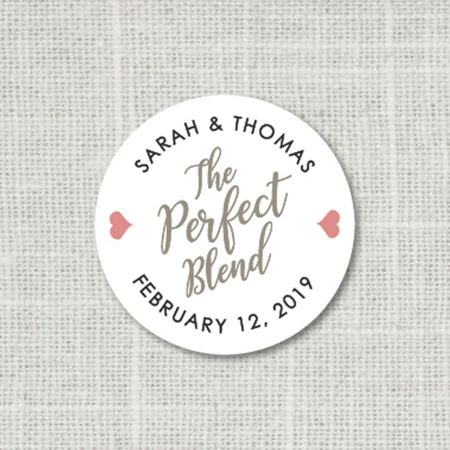 The Perfect Blend Wedding Stickers Wedding Favor Stickers