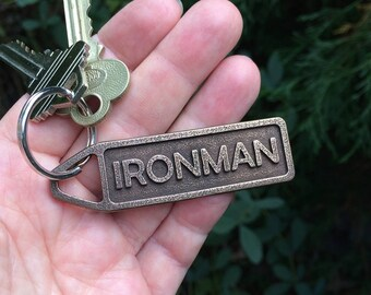 Custom Running Gift for Runners, Personalized Keychain, Customized Sports Keyring, Marathon Gift, Triathlon Triathlete Finisher