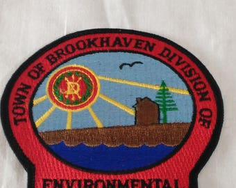 Town Of Brookhaven Division Of Environmental Protection Patch/Enbellishment/Iron On/New (B)