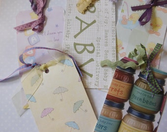 Baby Shower or Baby Gift Tags - Set of Five