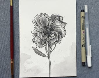 Ink Flower - Original Artwork