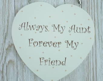 Aunt Gift Heart Plaque Always My aunt Forever My Friend Large Sentimental F1673E