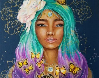 Butterflies, Original Oil Painting