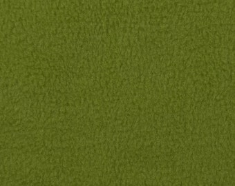 Anti Pill Solid Color Polar Fleece Fabric by the yard- Olive