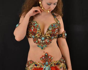 Bellydance costume belly dance outfit Apsara Goddess