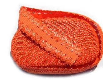 "5 Yard Roll of Orange Lace  Foldover Elastic FOE 16mm 5/8"" wide"