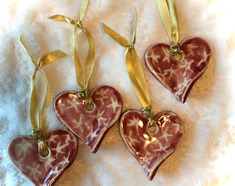 Red Heart Ornaments- Valentine Heart, Valentine ornament