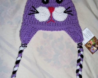 Crochet Kitty Kat Hat