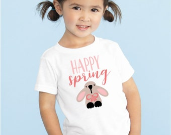 Happy Spring, Easter Bunny, Easter bodysuit or toddler t-shirt, Funny Easter Shirt, Baby's 1st Easter, shower gift,baby clothes,first easter
