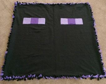 Minecraft Enderman Double Layer Fleece Blanket