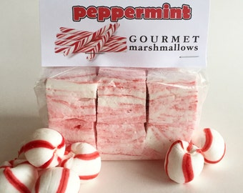 Fresh Gourmet Artisan Peppermint Marshmallows **Gluten Free**