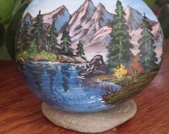 Calm Waters - Hand painted beach rock