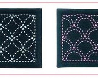 Sashiko Coaster KIT - Navy  - #262