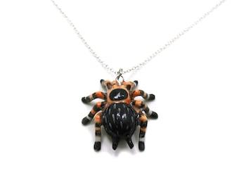 Tarantula Necklace, Tarantula Charm Necklace, Spider Jewelry, Tarantula Pendant, Tarantula Spider, Arachnid Charm, Arachnid Necklace, Insect