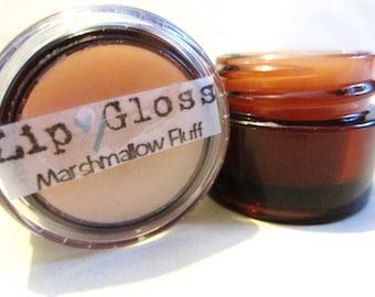 Lip Gloss -Marshmallow Fluff-Moisturizing & Nourishing-Handmade-Antixoidant- Vitamins-Soft Smooth Lips