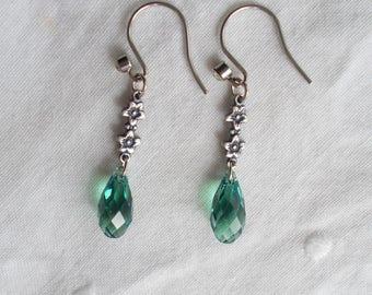 Vintage Style - Swarovski Crystal Ernite Briolette Drop Earrings