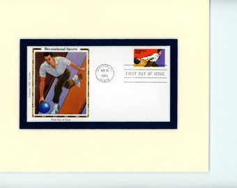 Honoring The Sport of Bowling & First Day Cover of the Bowling stamp