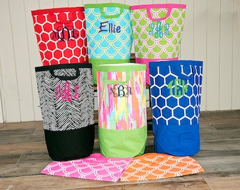 Monogrammed Laundry Tote - Monogram Hamper - Graduation Gift - Monogram Beach Bag -  Monogram Clothes Hamper