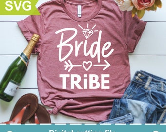 Bride tribe Svg, Bride Svg, Just Married Svg, Bride to be Svg, Wedding Svg, Cutting files for use with Silhouette Cameo, ScanNCut, Cricut