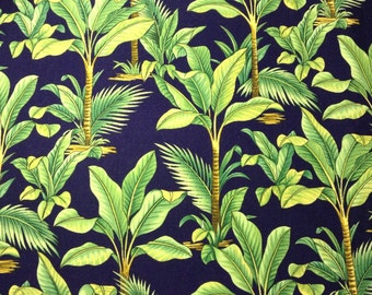 One Half Yard of Fabric Material - Tropical Palms