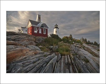 Pemaquid Point Lighthouse - Maine - Color Photo Print - Fine Art Photography (LM011)