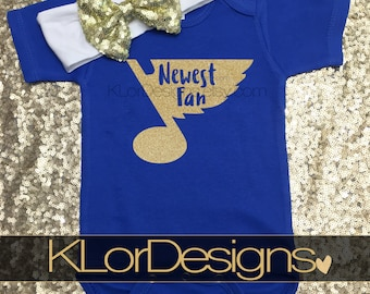 St. Louis Blues baby, Newest Blues fan, St. Louis Blues gift, St. Louis Blues, baby girl, STL baby, STL baby present, baby girl clothing