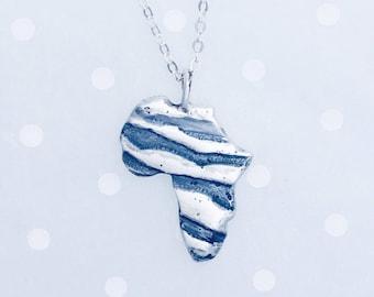 Africa necklace - Wild africa pendant - Adoption fundraiser