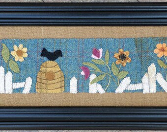Primitive Wool Applique PATTERN - Wildflowers - BPJ351
