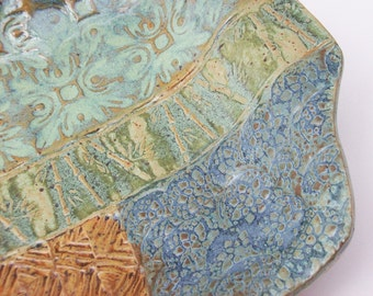 Quilt Platter - Rectangular Tray with Handles