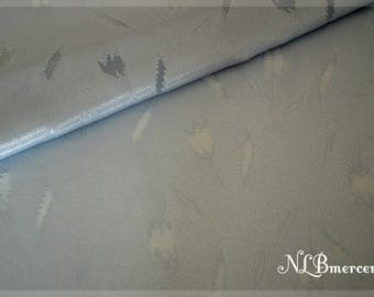 Tulip flower grey fabric