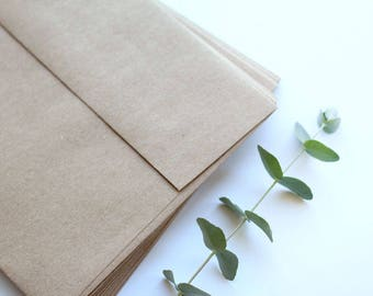 50 Kraft Paper Invitations Envelopes