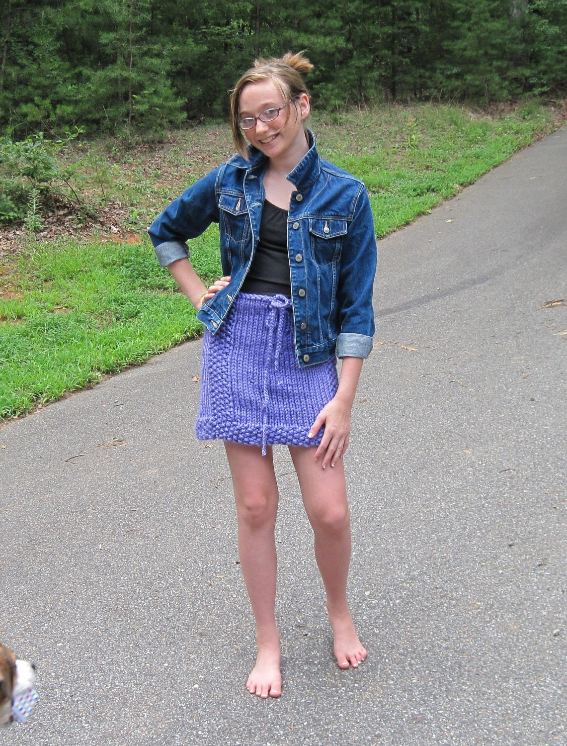 Tween to Teen Skirt Knitting Pattern from Ages 7 to Teen
